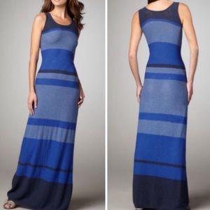 Vince Striped Cotton Knit Long Tank Dress